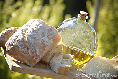 Bread Oil and Cheese