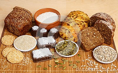 Bread, pastry, candies and ingredients