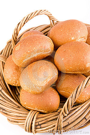 Bread Rolls in Basket