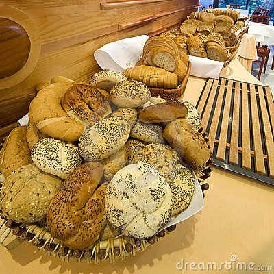 Bread and rolls buffet