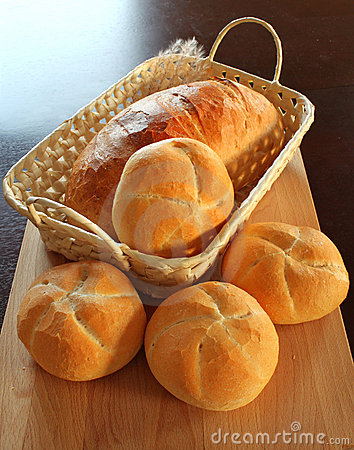 Free Bread Rolls In Basket Stock Images - 11996894