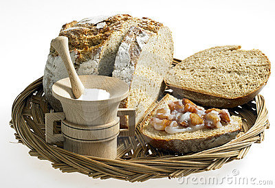 Bread with scraps