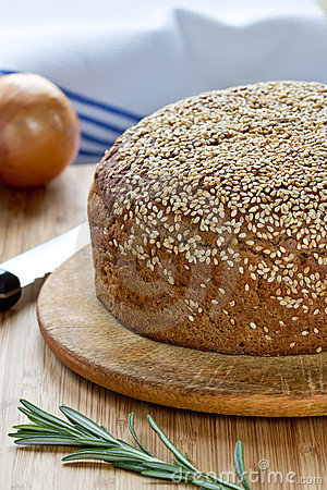 Bread with a sesame