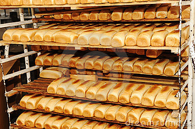 Bread on shelves