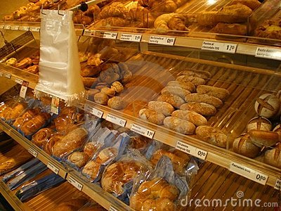 Bread shop bakery Italy