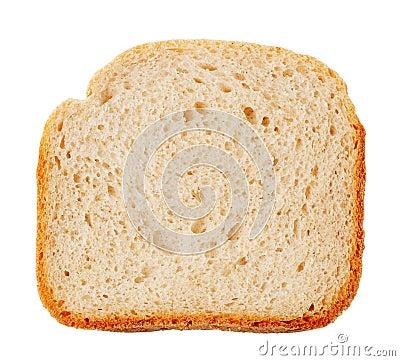 Bread slice with golden crust