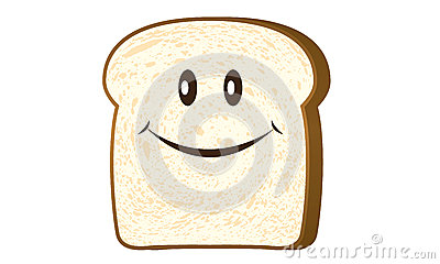 Bread slice isolated on white vector