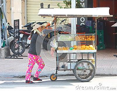 Bread stall vendor Editorial Stock Image