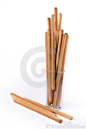Bread-sticks in a glass