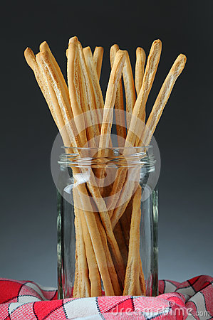 Free Bread Sticks In Jar Stock Images - 29374854