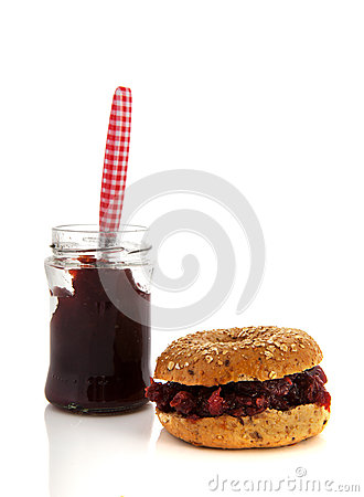 Bread with sweet jam