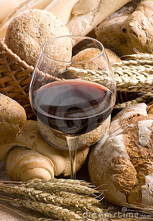 Bread and Wine Series (close up of wine glass)