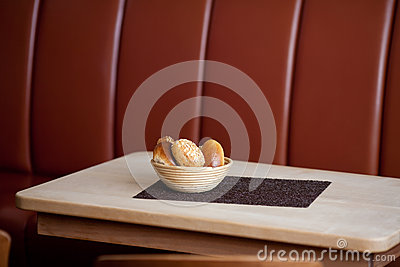 Breadbasket And Placemat On Table
