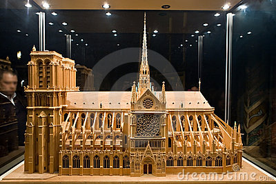 Breadboard model of a cathedral Notre-Dame 2