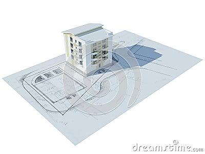 Breadboard model of the house