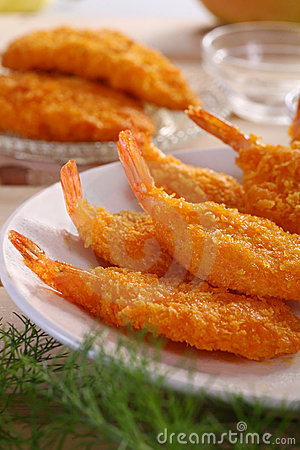 Free Breaded Shrimp Stock Image - 7574401