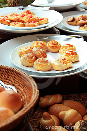 Breads at buffet