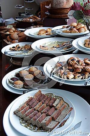 Breads at buffet breakfast