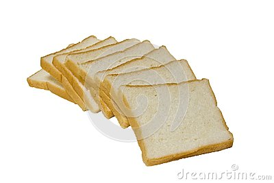 Breads in a curve line