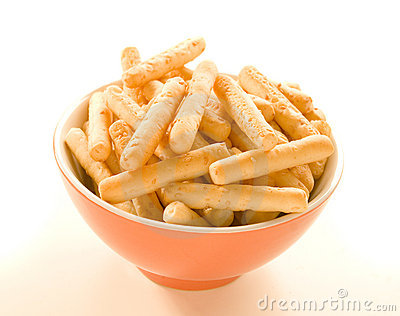Breadsticks in bowl