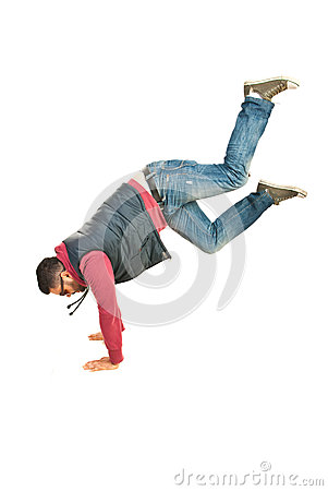 Break dancer man in action