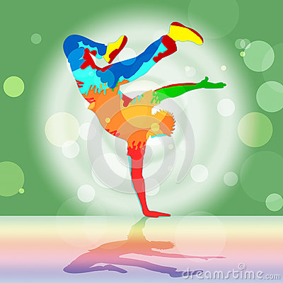 Break Dancing Represents Disco Music And Dance