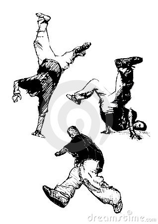 Break dancing trio