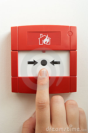 Break-glass fire alarm