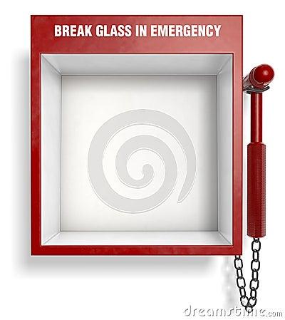 Free Break Glass In Emergency Stock Images - 7590044