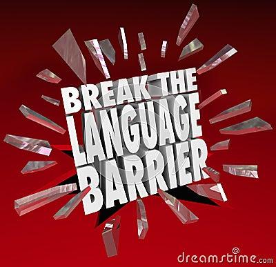 Free Break Language Barrier Translation Communication Royalty Free Stock Image - 38824276