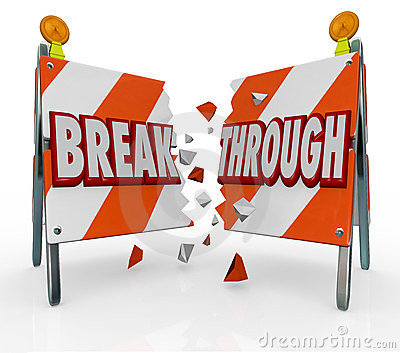 Break Through Overcome Barrier Obstacle in Way