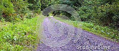 Break stone  road
