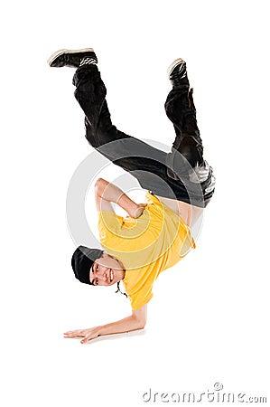 Breakdancer on arm