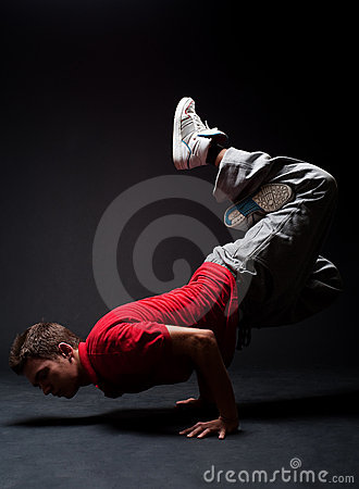 Breakdancer in freeze