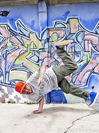 Breakdancer moving