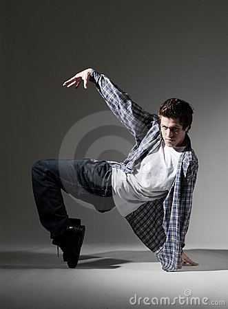 Breakdancer showing his skill