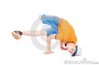 Breakdancer standing in freeze