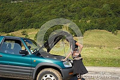 Breakdown of car