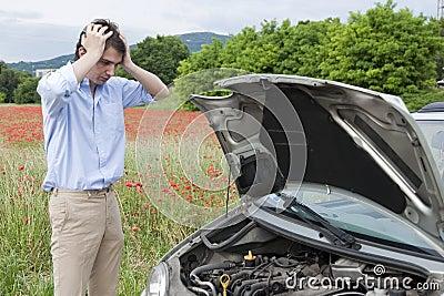 Breakdown car sadness