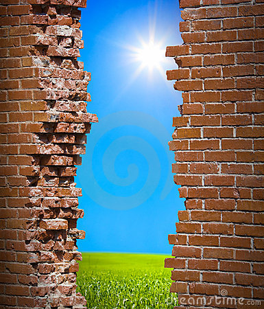 Free Breaken Wall Freedom Concept Stock Photo - 19564160