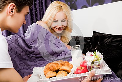 Breakfast in bed care