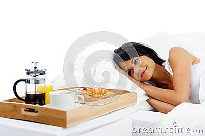Breakfast in bed service