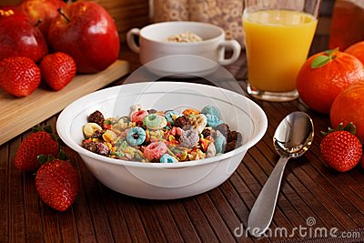 Breakfast with cereal