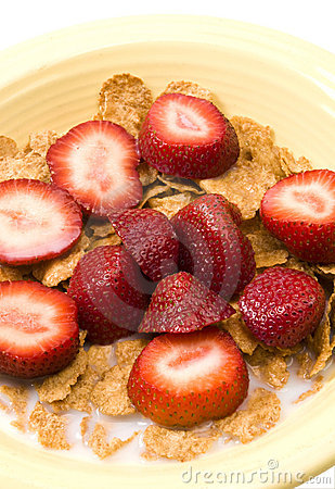 Breakfast cereal strawberries