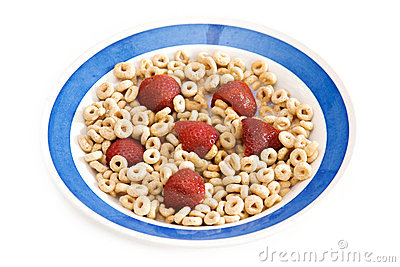 Breakfast cereal and Strawberries