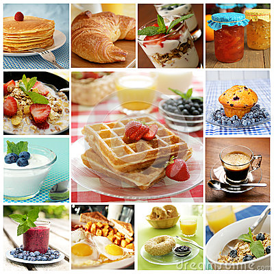 Free Breakfast Collage Royalty Free Stock Photo - 37705925