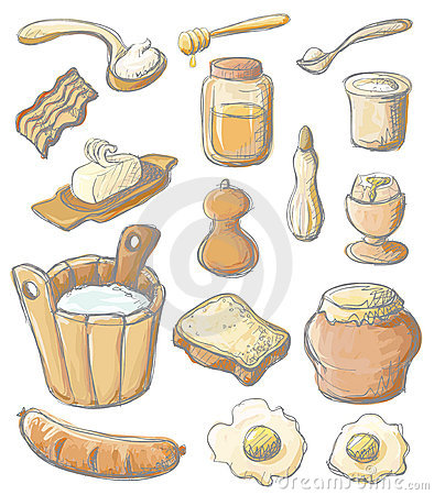 Breakfast color set