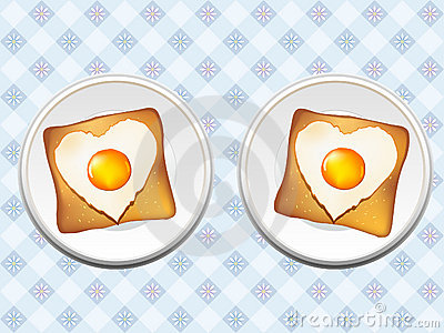 Breakfast of eggs and toast