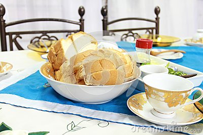 Breakfast with English bread
