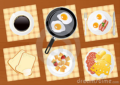 Breakfast food set